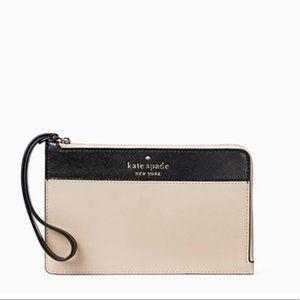 Kate Spade Staci Colorblock L-Zip Wristlet Wallet